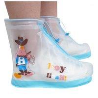 Ayakkabı Parçaları Aksesuarları Koruyucu Ayakkabı Boot Kapak Çocuklar Için Tek Kullanımlık Koruyucu Kalınlaşmak Su Geçirmez Kaymaz Yağmur Kılıfları 3F1 Kapakları