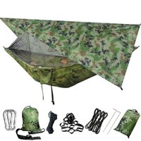 Outdoor Games & Activities Camping Hammock Mosquito-Net Backpacking Tree-Straps Travel Hiking Portable Beach