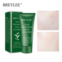 BREYLEE Facial Cleanser Acne Treatment Face Cleansing Wash Mask Skin Care Shrink Pore Oil Control Remove Blackhead 100g DH1002