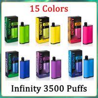 Top Quality Infinity Descartável E Cigarros 1500mAh Capacidade da bateria 12ml com 3500 puffs Extra ultra vape caneta pré-preenchida Vs Bang XXL Duo