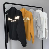 2021 Neue Tropfen Schultern Reflektierende Hoodie Hoody Männer Frauen Hohe Qualität Pullover Stickerei Essentials Sweatshirts N0EQ