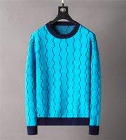 Klasik Tasarımcı Erkek Kazak Moda 2021 Sonbahar Kış Yüksek Kalite Rahat Yuvarlak Uzun Kollu Kazak Erkek Kadın Mektup Baskı Kazak M-3XL Daha Renk