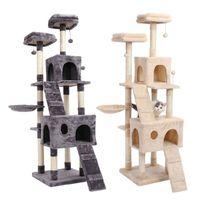 2021 novo brinquedo pulando com casa escada entrega madeira escore árvore para tabela de gato móveis de gato coçar post n5n9
