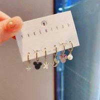 Dangle & Chandelier Cute Mouse Earrings Hook For Women Charm 6 Piece Sets Jewelry Wholesale Korean 2021 Trendy Wedding Gift Lovely Anime Acc