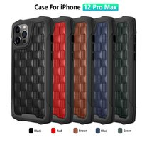 3D PU Leather Shockproof Airbag Cell Phone Cases for iPhone 12Mini 12Pro 11Pro XR X XS MAX 6s 7 8Plus SE2020 Anti Slip Hand Grip Cover