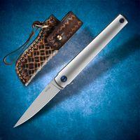 M390 스틸 접이식 나이프 TC4 티타늄 합금 핸들 빠른 오프닝 포켓 EDC 사냥 도구 야외 낚시 전술 싸움 시원한 칼 하이킹 캠핑 자기 방어