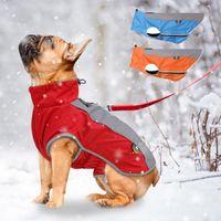 Chiens veste veste étanche gilet chaud gilet animal de compagnie vêtements extérieurs coupe-vent mode mode hiver manteau réfléchissant chiot vêtements