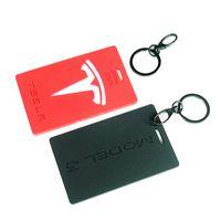 الإمدادات الإبداعية سيارات مناسبة ل Tesla Model3 Y سيارة مفتاح حالة الملحقات الداخلية غطاء بطاقة جلدية سيليكون