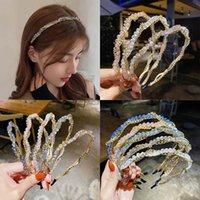 Chicas Accesorios para el cabello Sticks Crystal Headbands Niños Adolescentes Niños Cadena de metal Cadena Cabeza Moda B8023