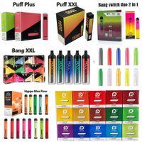 Puff Plus Bang XXL Romio Jetable E Cigarettes Geek Bar Hympe Max Flow Vape 800 1500 1600 2000 Puffs Cigarette électronique