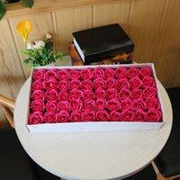 50pcs / lot 5cm artificielle rose fleur tête fleur de savon décoratif pour la maison mariage floral déco de la Saint-Valentin cadeau présent