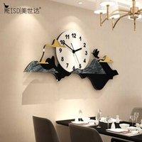 Horloges murales Meisd Grande horloge Creative Silencieux Silencieux Design Moderne Design Quartz Horloge Accueil Décor Salon