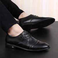 2020 Echtes Leder Herrenschuhe Hohe Qualität Formale Business Schuhe Casual Oxford Kleid Männer Wohnungen Mode F9C7 #