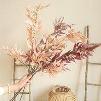 Ins bamboe blad lange tak kunstmatige bladeren zijde bloemen appartement decorating bruiloft boerderij home decor nep planten wilg