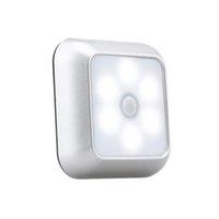 Batteriebetriebene quadratische Bewegungssensor Nachtlicht PIR-Induktion unter Schreiner Lichter Treppen Küche Kleiderlampe