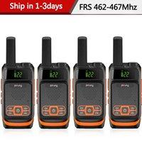 Walkie Talkie 4PCS Baofeng Pofung frs f19 mini Ham Radio Portable Двухсторонняя лицензионные 22 канала USB зарядки BF-F19