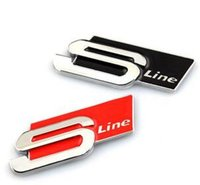 car Styling Metal S Line For B7 Sticker Emblem B8 Accessories B5 Audi A1 Sline A4 B6 Badge A3 Car A5 A6 C5 3D Case Fdqjc