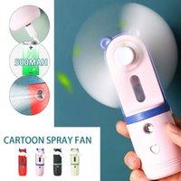 Ventilateurs électriques portables 2 en 1 mini ventilateur humidificateur USB rechargeable eau de poche pulvérisée climatiseur pour extérieur