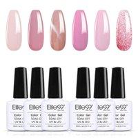 Nail Art Kits Elite99 6 pcs Cherry Pink Series Gel Polonês Set Soak Off Hybrid Vernish Semi Permanente UV