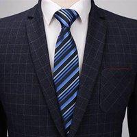 Бантики q 6шт роскошный классический подарок мужские бизнес формальный свадебный галстук зажима рубашка платье аксессуары шелковый платок жаккардовые галстуки