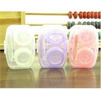 투명한 콘택트 렌즈 케이스 컴팩트 휴대용 아름다운 학생 상자 결합 된 양면 상자 여러 가지 빛깔의 새로운 패턴 0 8HQ J2