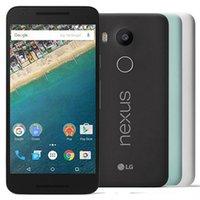 재조정 된 원래 LG Nexus 5x H790 H791 5.2 인치 Hexa 코어 2GB RAM 16GB 32GB ROM 12.4MP 잠금 해제 4G LTE 스마트 휴대 전화 DHL 30pcs