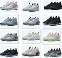 Airvapomaxs 2021 FK Femmes Chaussures Chaussures Chaussures de course à pied Sneaker Sneakers Sneakers Sports Porter Chilly Blue Monochrome Aqua et Mangue Flux d'avoine Déplacer à Zero Triple Black
