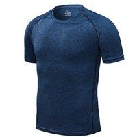클리어런스 판매 압축 남자 티셔츠 운동 스포츠 러닝 티셔츠 짧은 소매 조깅 티셔츠 피트니스 운동 체육관 의류