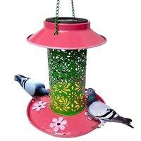 Andere vogellevering Zonne-energie Feeder Licht Waterdichte Vintage Hanging Outdoor Lamp Grote Capaciteit LED Nachttuin