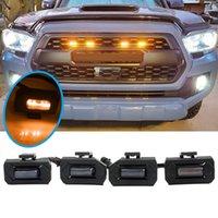 4PCS LED Front Grill Lights For Toyota Tacoma Raptor TRD Off Road Sport 2020-2021 External Fog Lamp