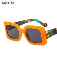 선글라스 푸드 스퀘어 여성 패션 인쇄 프레임 빈티지 안경 맑은 렌즈 태양 안경 UV400 남자를위한