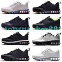 En Kaliteli Kalın Tabanlı Nefes Erkek Koşu Ayakkabıları Siyah Gökkuşağı erkek Sneaker Spor Sneaker Boyutları 36-46