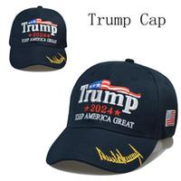 8 styles le plus récent 2024 Trump Baseball Cap-Baspe USA Élection présidentielle Trmup Même style chapeau Ambrodered PonyTail Ball Cap Cap Ship Livraison