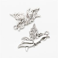 50 adet / grup Phoenix Kuşlar Alaşım Charms Retro Takı Yapımı DIY Anahtarlık Antik Gümüş Kolye Bilezik Küpe Kolye için Kolye 35 * 22mm 190 R2