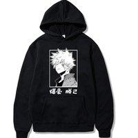 My Hero Academia Sudaderas con capucha Japanese Katsuki Impreso Hoodie Hombre Streetwear Casual Sudaderas