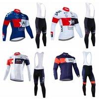 أنا فريق الدراجات طويلة الأكمام جيرسي مريلة السراويل مجموعات الرجال الدراجات جيرسي سريعة الجافة mtb الملبس روبا ciclismo ركوب الدراجات maillot culotte 102619