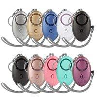 15 colores Alarmas personales 130dB Forma de huevo Emergencia Autor de defensa de emergencia Alarma de seguridad para niñas Mujeres Ancianos Proteger alerta Seguridad Seguridad Soltura Llavero fuerte con luz LED