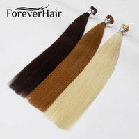 """Forever Cheveux Remy Extension préalable d'une extension de 0,8 g / s de 16 """"18"""" 20 """"24 piqûre de kératine droite droite européen hot fusion cheveux 50 pièces"""