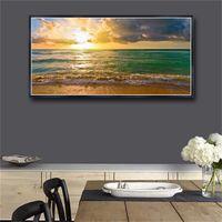 Tuval Duvar Sanatı Duvar Boyama Manzara Posterler Ve Baskı Tuval Boyama Deniz Manzarası Duvar Resimleri Oturma Odası Sanat Baskı Yok Çerçeveli # 541