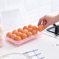 10 grilles boîtes d'œuf en plastique brisent les œufs de l'organisateur résistant conteneur conteneur cuisine outils réfrigérateur nourriture fraîche boîte de rangement FWA8476