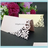 Greeting Event Festive Supplies Home & Garden10 50 100Pcs Place Seat Card Favor Decor Chic Name Cards Wedding Party Table Decoration Pearlsc