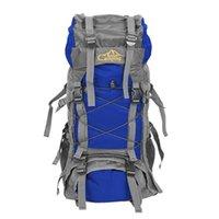 Grande capacité 60L sac à dos pliable imperméable sac de camping avec housse de pluie Camping randonnée Trekking Sport Sacs d'escalade