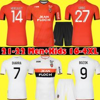 21 22 FC LORIENT SOCCER JERSEYS HOME 멀리 2021 2022 WISSA Moffi Maillot de Foot Hamel Umut Bozok Ponceau Grbic 남자 축구 셔츠 탑 태국 품질