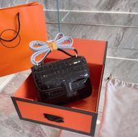 2021 Luxurys 디자이너 Kkang 수석 여성 핸드백 악어 탑 Qulaity 어깨 가방 패션 플랩 레이디 드레스 크로스 바디 가방 상자