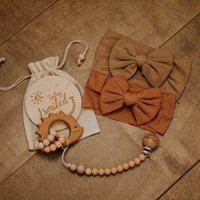 Set Baby Milestone Card Growth Mensile Coloful Infant Bow Knot Capel Band Bracciale Peech Bracciale per animali PO Accessori