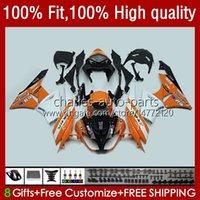 Karosserie für Kawasaki Ninja ZX600 ZX-6R ZX636 600cc 09-12 13NO.170 ZX 6R 600 CC 6 R 636 ZX6R 09 10 2011 2011 ZX-636 ZX600C 2009 2011 11 12 Injektion OEM Feiertagslicht Orange