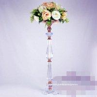 Decorazione del partito 10 pz) Chiaro Stand di fiori di cristallo per la disposizione floreale Tavolo Lampadario Centerpiece da sposa