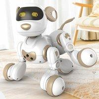 جديد IR RC المشي الكلب 2.4 جرام لاسلكي للتحكم عن بعد الكلب الذكية الإلكترونية الحيوانات الالكترونية التعليمية لعبة الرقص روبوت الكلب