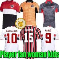 21 22 Sao Paulo Dritter Fussball Jersey Fans Spielerversion Outubro Brenner Pato Pablo Dani 2021 Camisa de Futebol Männer Frau Kits Full Sets Football Hemd Maillots de Foot