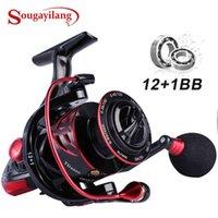 Sougayilang Spinning Rolle 12 + 1BB 12kg Max Max Drag Power Fishing Reel 5.2: 1 High Speed Graphitrahmen CNC Aluminium Spool-Rad PESCA 210619